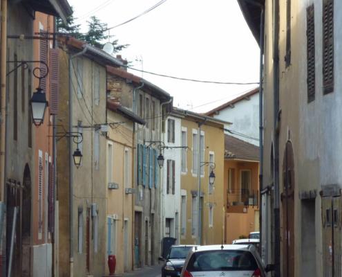 Hausboot Seille, Gasse in Pont-de-Vaux
