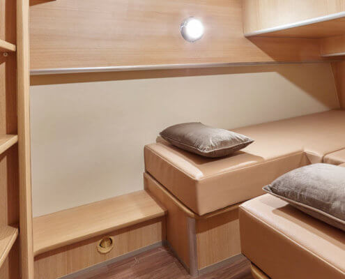 Hausboot Nicols Sixto Green Schlafkabine