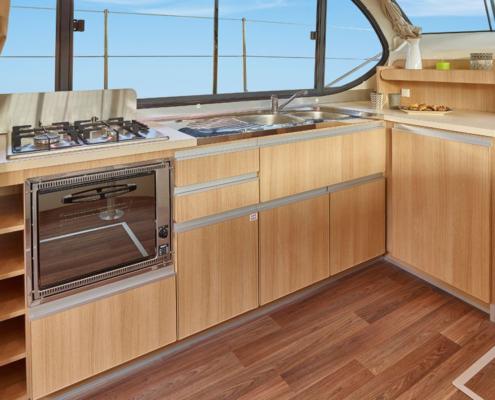 Hausboot Nicols Sixto Green Küche