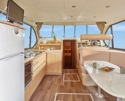 Hausboot Nicols Sixto Green Wohnraum