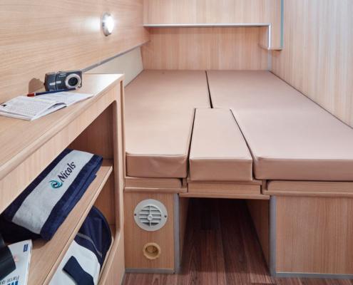 Hausboot Nicols Sixto Fly Kabine