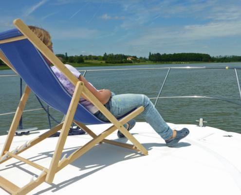Mit dem Hausboot auf der Saone