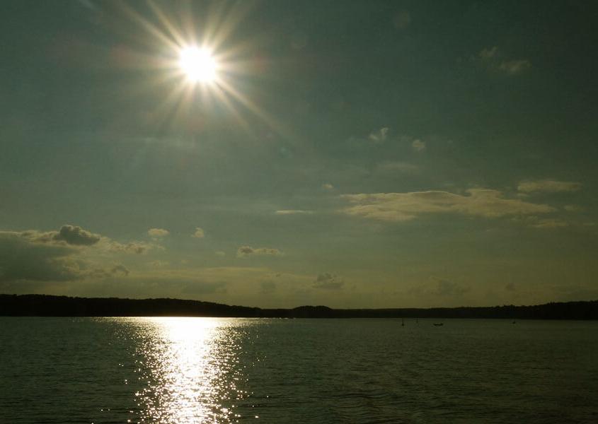 Abendstimmung Vilzsee in Mecklenburg