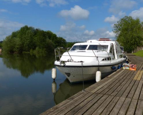 Hausboot Anlegestelle in Scey sur Saône