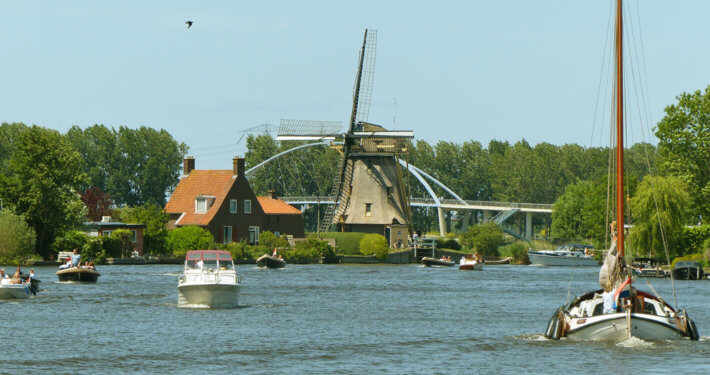Boote in Muiden Holland