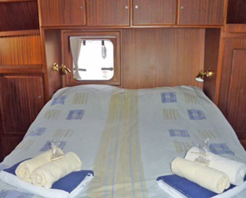 Hausboot Friesland Archipel Kabine