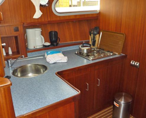 Hausboot Friesland Archipel Küche