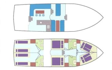 Hausboot Poseidon Elite Grundriss