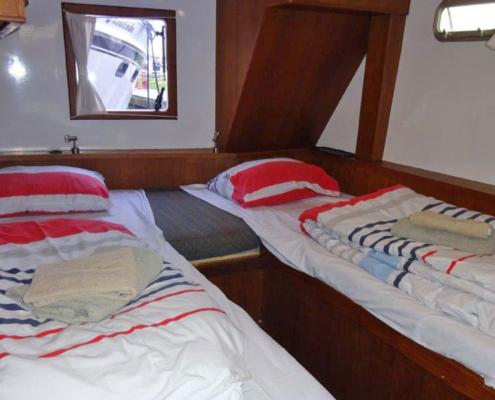 Hausboot Holland Schlafkabine Mariska