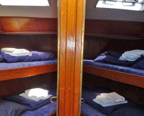 Hausboot Poseidon Friesland Kabine