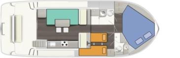 Hausboot Horizon 2 - S Grundriss