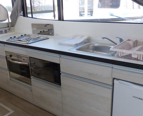Hausboot Horizon 3 Küche