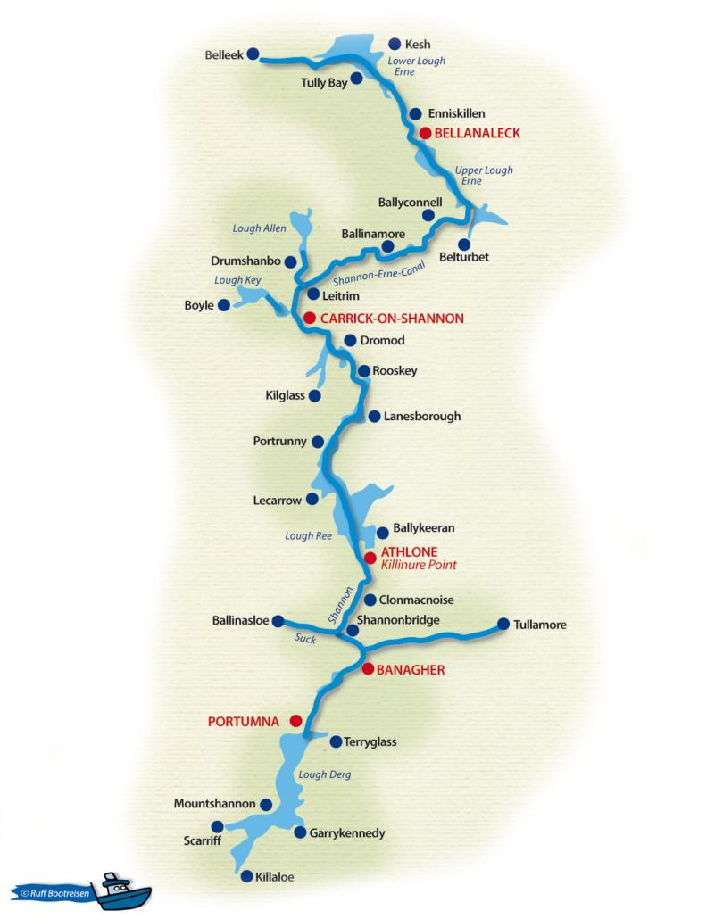 Irland Gewässerkarte