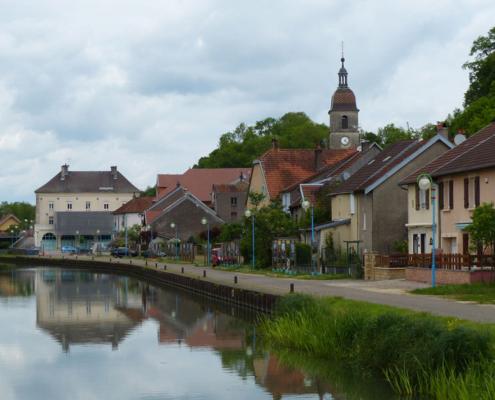 Hausbooturlaub Burgund, Port sur Saône