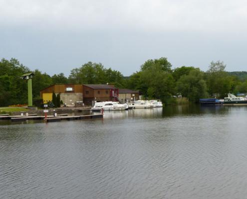Hausbooturlaub Saône Abfahrtshafen Scey-sur-Saone