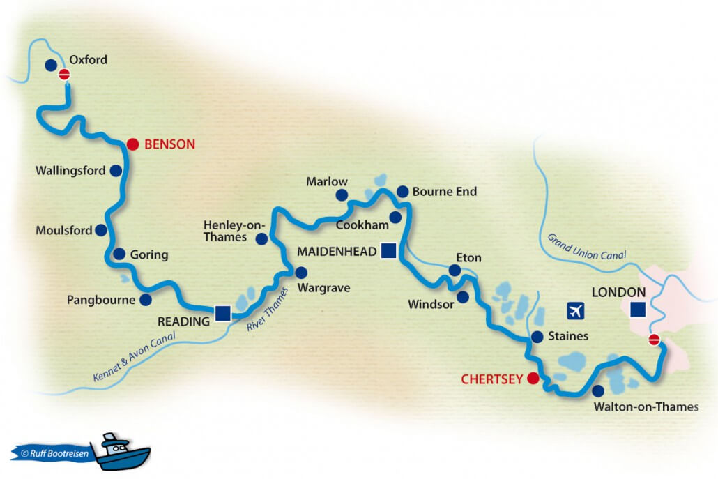 Themse England Gewässerkarte