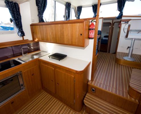 Hausboot TipTop Küche