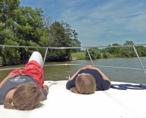 Mit dem Hausboot auf der Seille