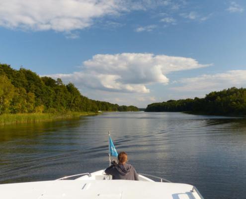 mit dem Hausboot auf dem Mössensee Hausboot Deutschland